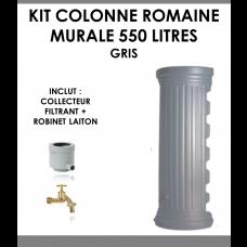 Kit colonne romaine murale gris 550 litres-20