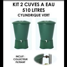 Kits 2 cuves à eau cylindrique 510 litres Vert-20