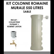 Kit colonne romaine murale sable 550 litres-20