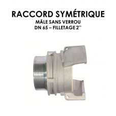 """Raccord symétrique mâle sans verrou DN raccord 65 Filetage 2""""-20"""