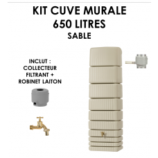 Kit cuve murale slim 650 litres Sable-20