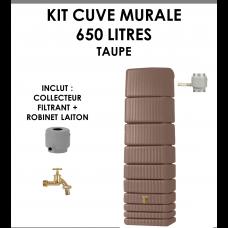 Kit cuve murale slim 650 litres Taupe-20