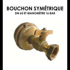 Bouchon symétrique DN 65 équipé manomètre 16 bar-20
