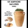 Kit amphore ANTIK SABLE 360 litres