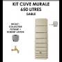 Kit cuve murale slim 650 litres Sable