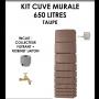 Kit cuve murale slim 650 litres Taupe