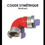 Coude symétrique DN 40