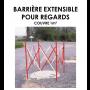 Barrière extensible pour regards