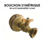 Bouchon symétrique DN 65 équipé manomètre 16 bar