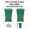 Kits 2 cuves à eau rectangulaire 300 litres Vert-05