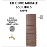 Kit cuve murale slim 650 litres Taupe-01