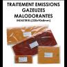 Plaque polymériques pour traitement d'émissions gazeuses malodorantes INDUSTRIEL-01