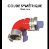 Coude symétrique DN 40-01