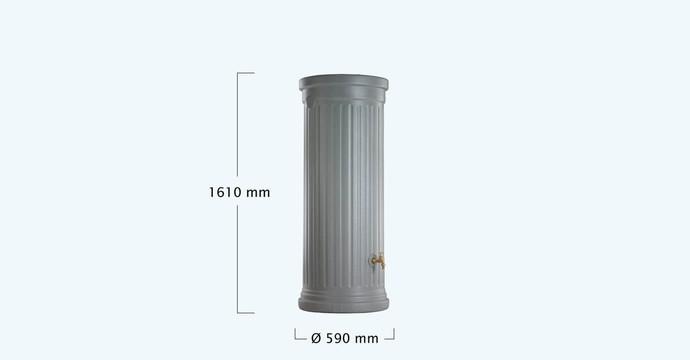 Kit colonne romaine gris 330 litres-01