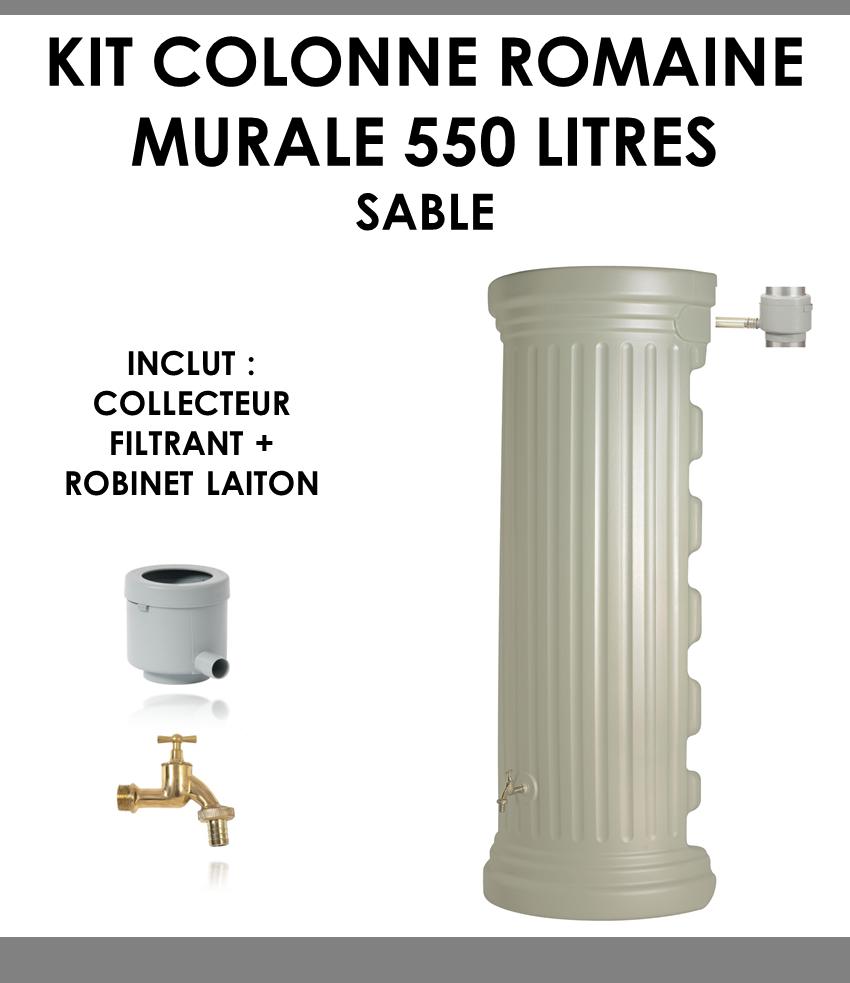 Kit colonne romaine murale sable 550 litres-01