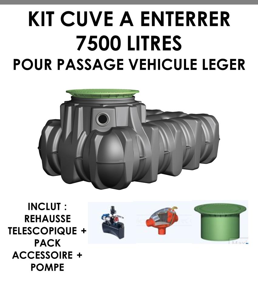 """Kit à enterrer """"Habitat PLATINE Eco Plus"""" 7500 litres-01"""
