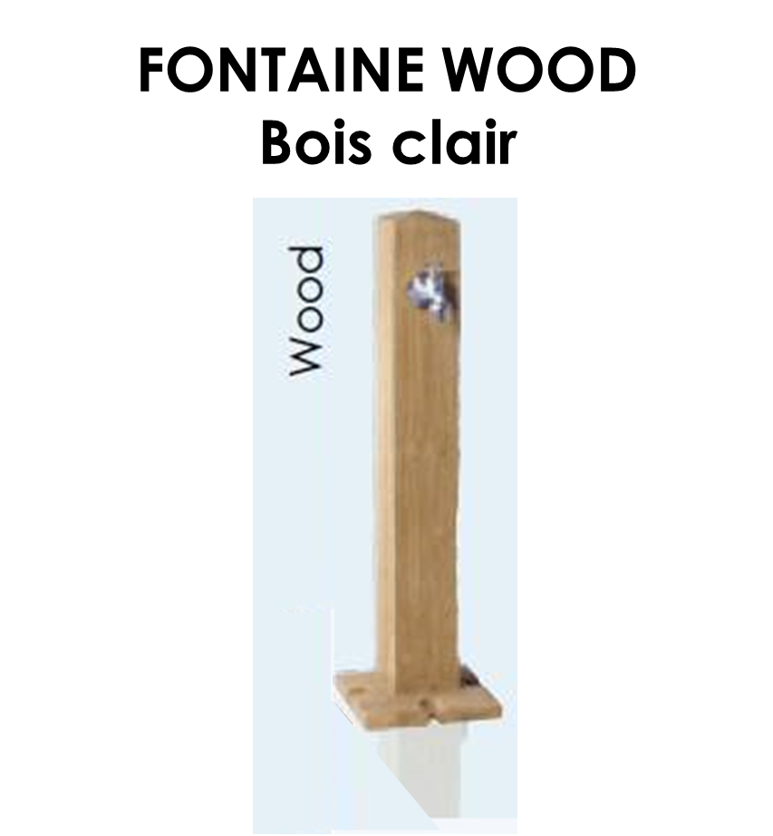 Fontaine WOOD en PE Bois clair-05