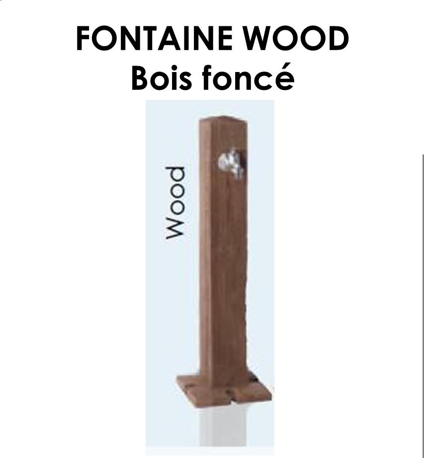 Fontaine WOOD en PE Bois foncé-05