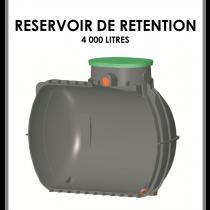 Réservoir de rétention 4000 litres stockage 0 litre-20