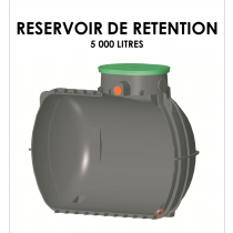 Réservoir de rétention 5000 litres stockage 0 litre-20