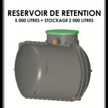 Réservoir de rétention 5000 litres stockage 2000 litres-20