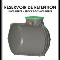 Réservoir de rétention 5000 litres stockage 3000 litres-20