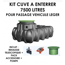 """Kit à enterrer """"Habitat PLATINE Eco Plus"""" 7500 litres-20"""