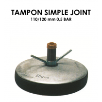 Tampon simple joint diamètre 110/120mm 0,5 bar-20