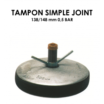 Tampon simple joint diamètre 138/148mm 0,5 bar-20