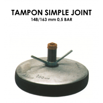 Tampon simple joint diamètre 148/163mm 0,5 bar-20
