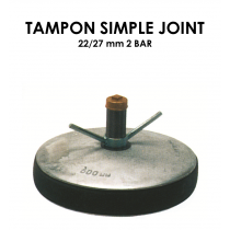 Tampon simple joint diamètre 22/27mm 2 bar-20