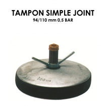 Tampon simple joint diamètre 94/110mm 0,5 bar-20