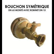 Bouchon symétrique DN 65 monté avec robinet DN 15-20