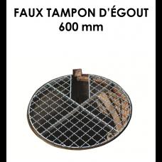 Faux tampon d'égouts diamètre 600 mm-20