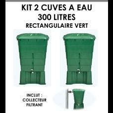 Kits 2 cuves à eau rectangulaire 300 litres Vert-20