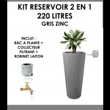 Kit reservoir 2 en 1 Linus 220 litres Gris Zinc-20
