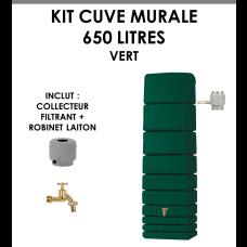 Kit cuve murale slim 650 litres Vert-20