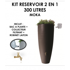 Kit reservoir 2 en 1 300 litres Moka avec bac à fleur amovible-20