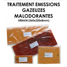 Plaque polymériques pour traitement d'émissions gazeuses malodorantes URBAIN-20