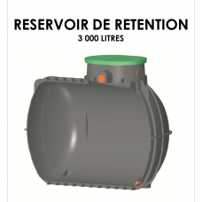 Réservoir de rétention 3000 litres stockage 0 litre-20