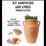 Kit amphore ANTIK TERRACOTTA 600 litres