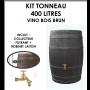 Kit tonneau Vino Brun 400 litres