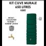 Kit cuve murale slim 650 litres Vert