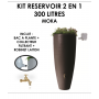 Kit reservoir 2 en 1 300 litres Moka avec bac à fleur amovible