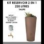 Kit reservoir 2 en 1 VASO 220 litres taupe