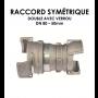 Jonction symétrique double avec verrou DN 80 - 50 mm