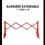 Barrière extensible haute visibilité