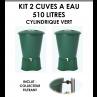 Kits 2 cuves à eau cylindrique 510 litres Vert-01