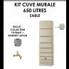 Kit cuve murale slim 650 litres Sable-01