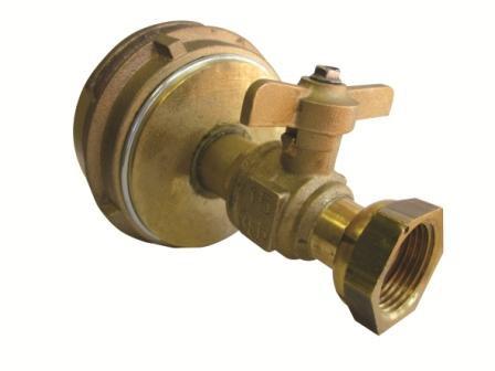 Bouchon symétrique DN 65 monté avec robinet DN 15-01